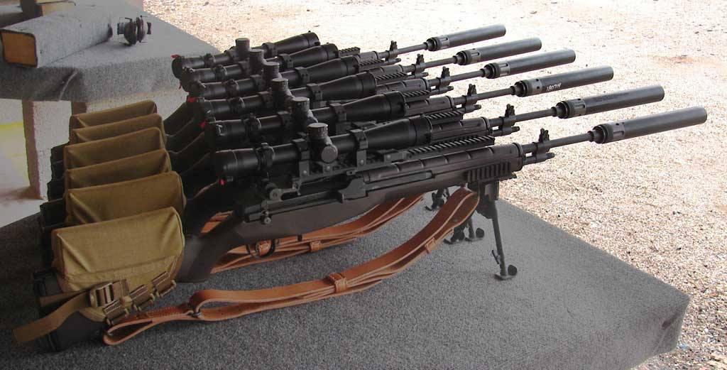 M14 Rifle - SASS - Semi Automatic Sniper System ... M110 Sniper Rifle Suppressed