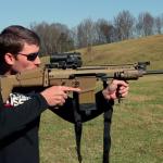 FN SCAR 17 Slow Motion Camera Shot