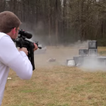 HK-93 Rifle Destroys TVs Full Auto