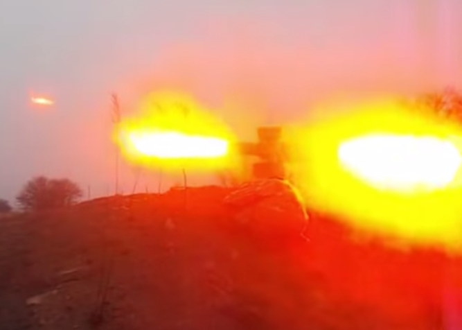 Pro-Russian Fighters' Kornet Anti Tank Missile Misfires