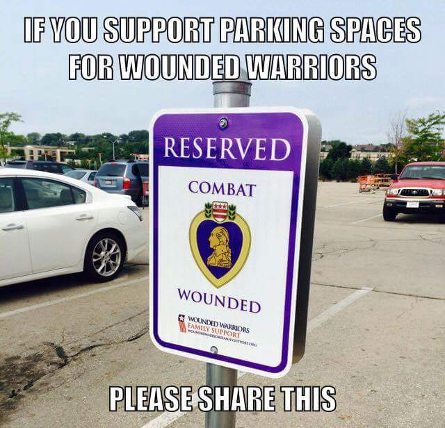 Parking Space for Combat Wounded Vets